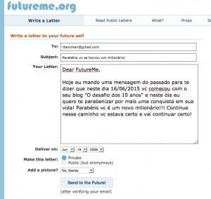 Msg para o futuro 2026